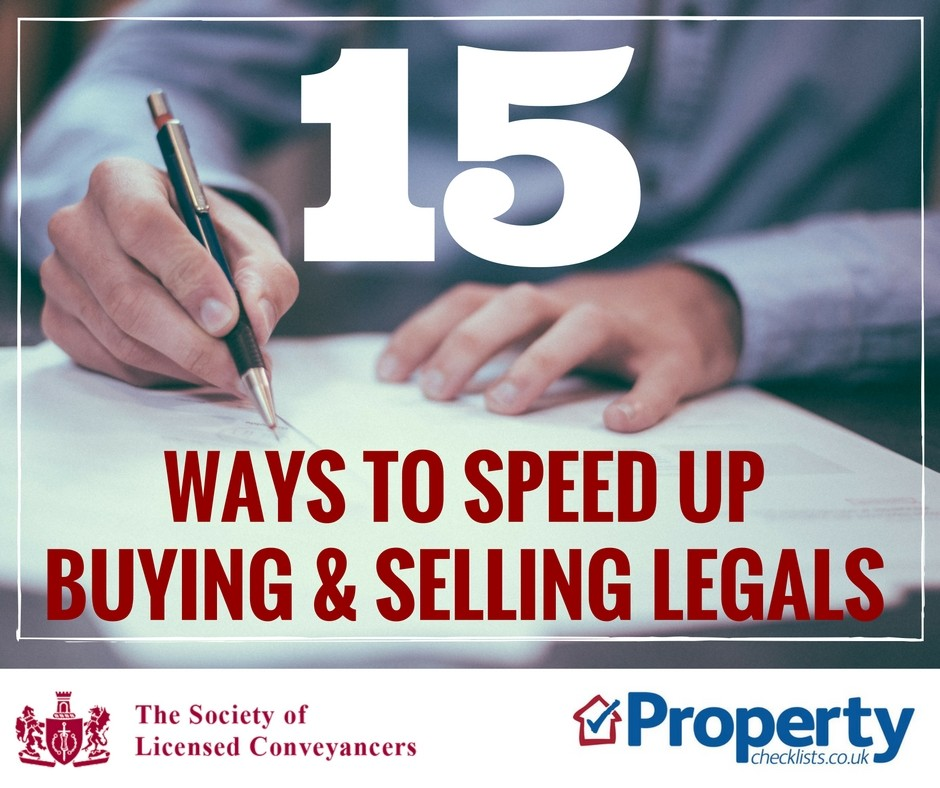 15 ways to speed up your property buying and selling legals checklist