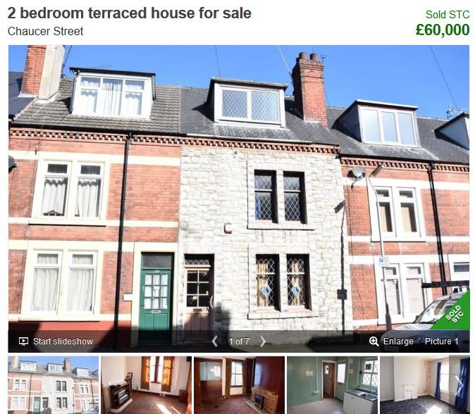 Bargain property for sale in Mansfield