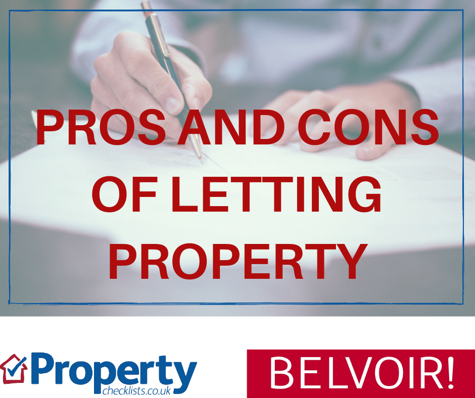 Pros and cons of letting a property checklist