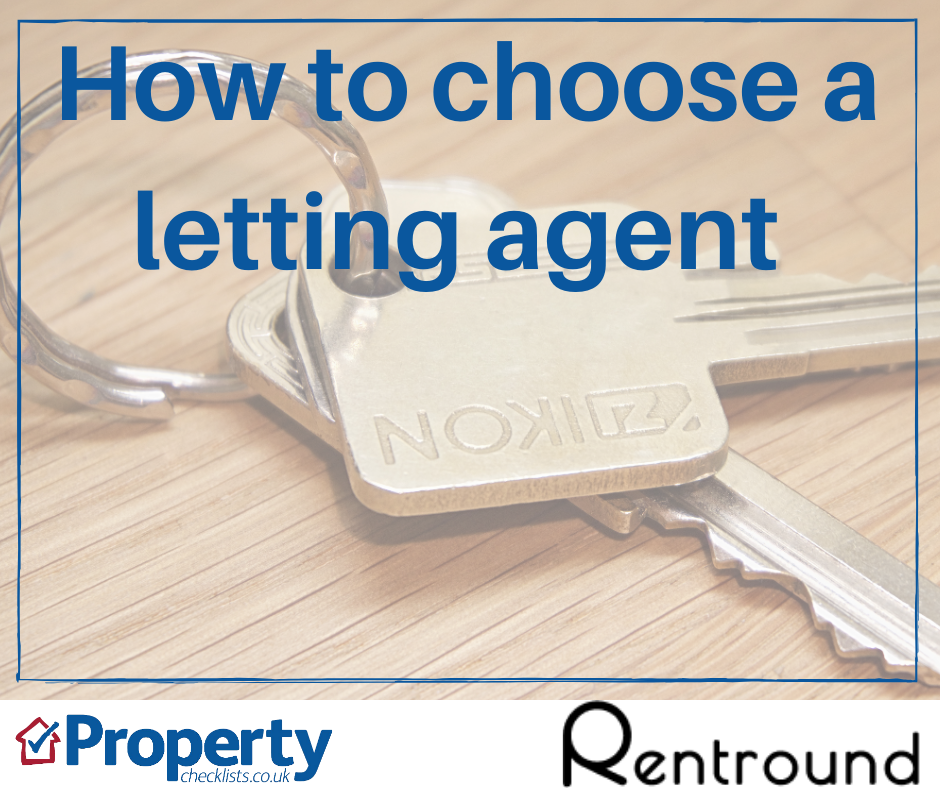 How to choose a letting agent checklist