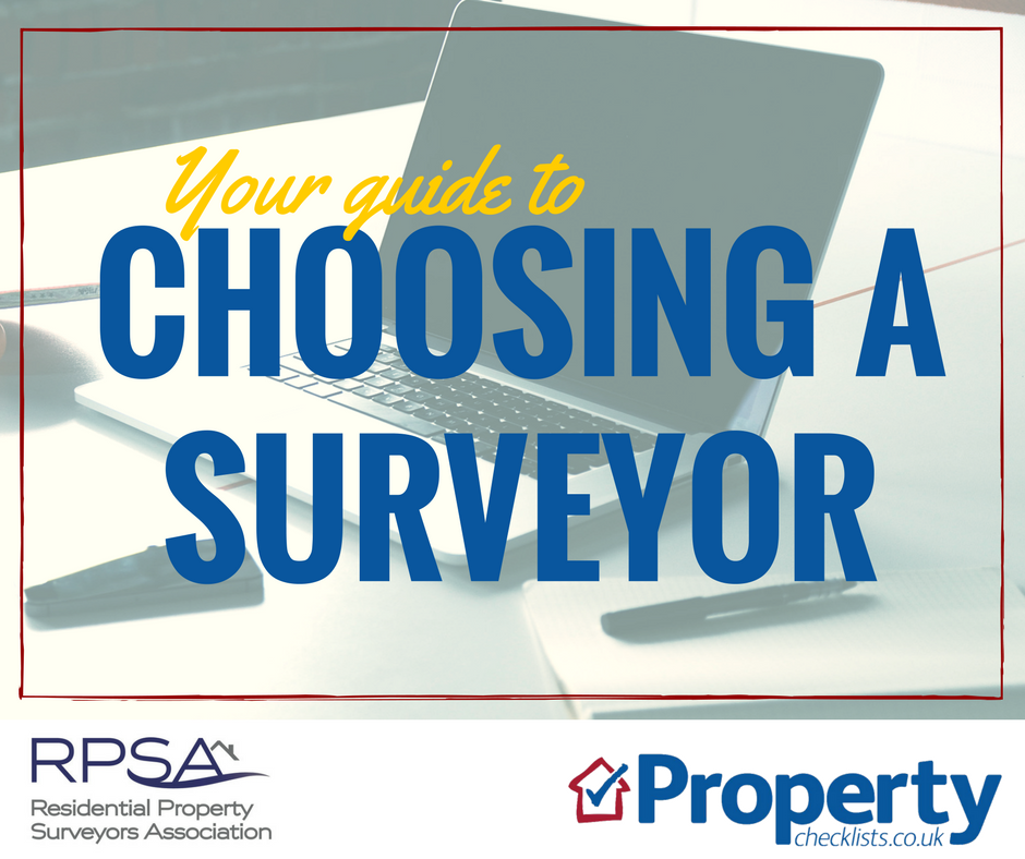 Choosing a surveyor and type of survey checklist