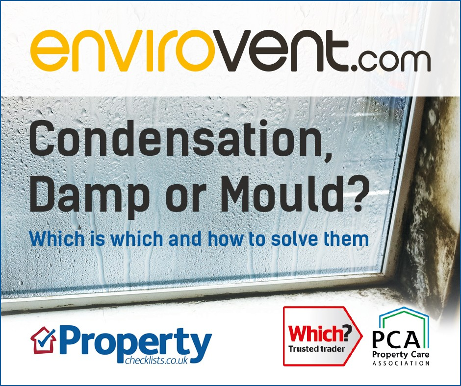 Identifying and solving condensation, damp and mould checklist