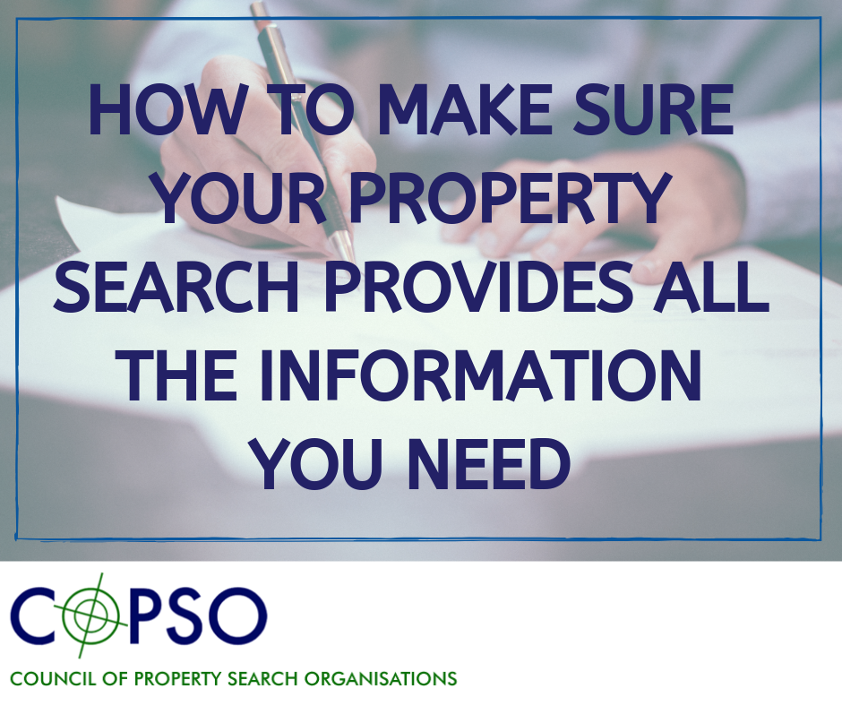 Copso - How to make sure your property search provides all the information you need checklist