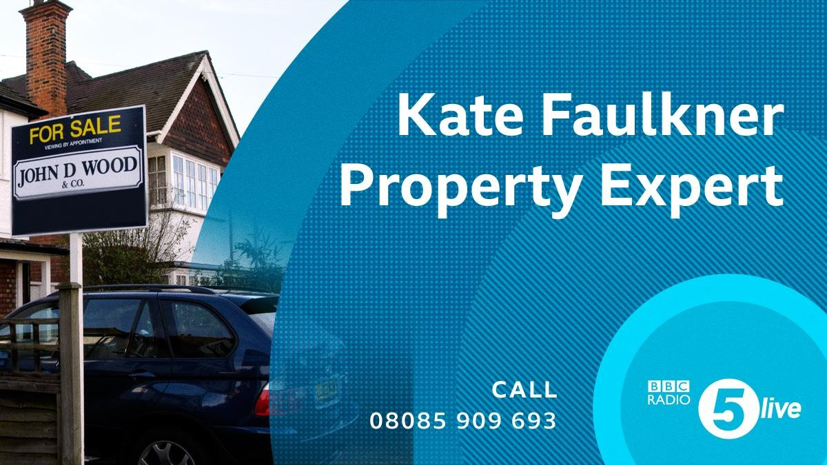 Kate Faulkner on BBC 5Live as Property Expert