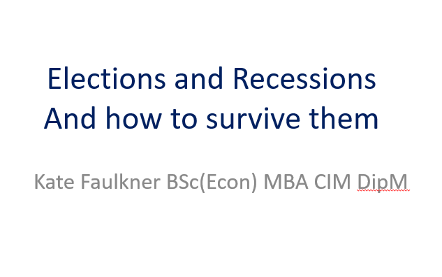 Elections and recessions and how to survive them
