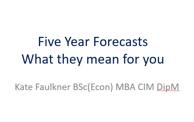 Five year forecasts - what they mean for you