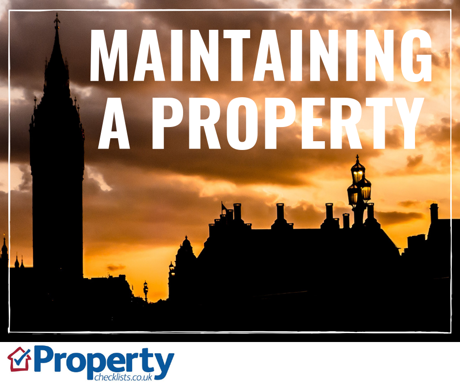 Maintaining a property checklist