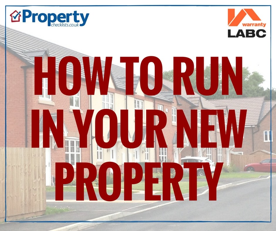How to run in your new build property checklist