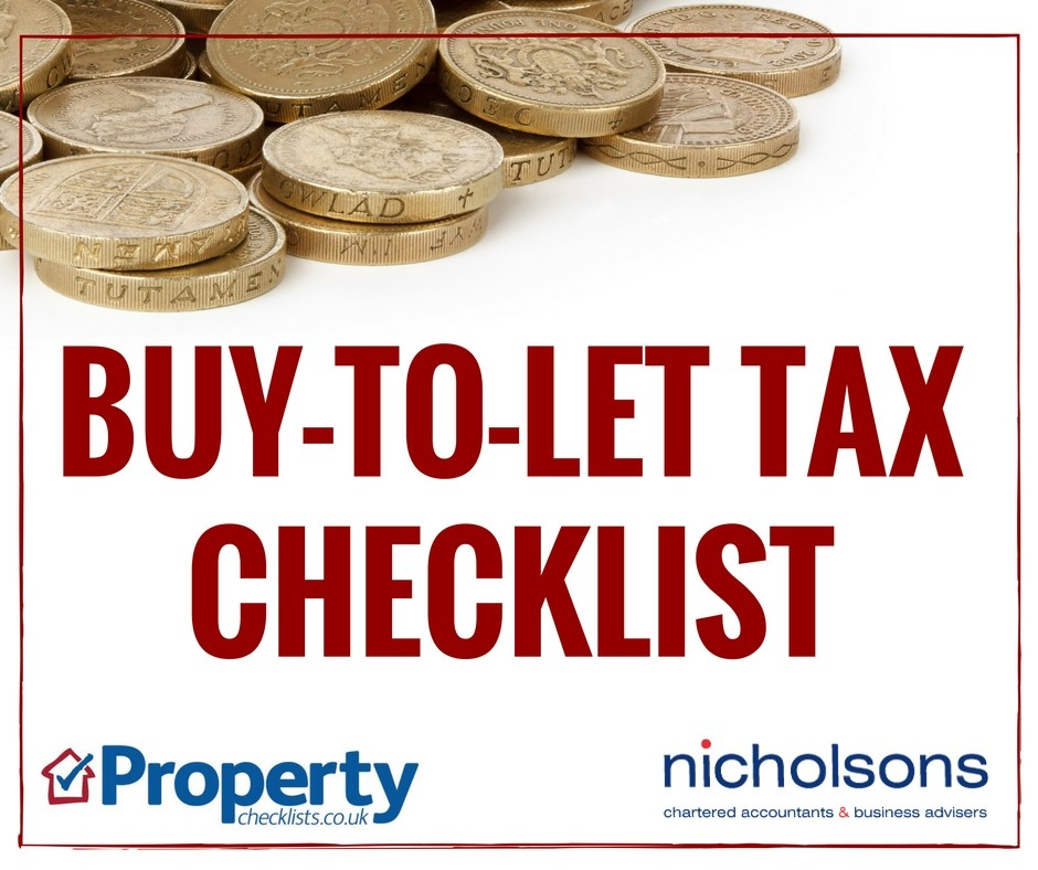 Buy to let tax checklist