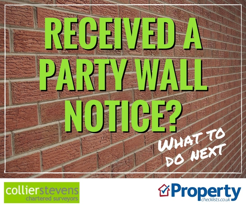 I Have Received A Party Wall Notice What Do I Do
