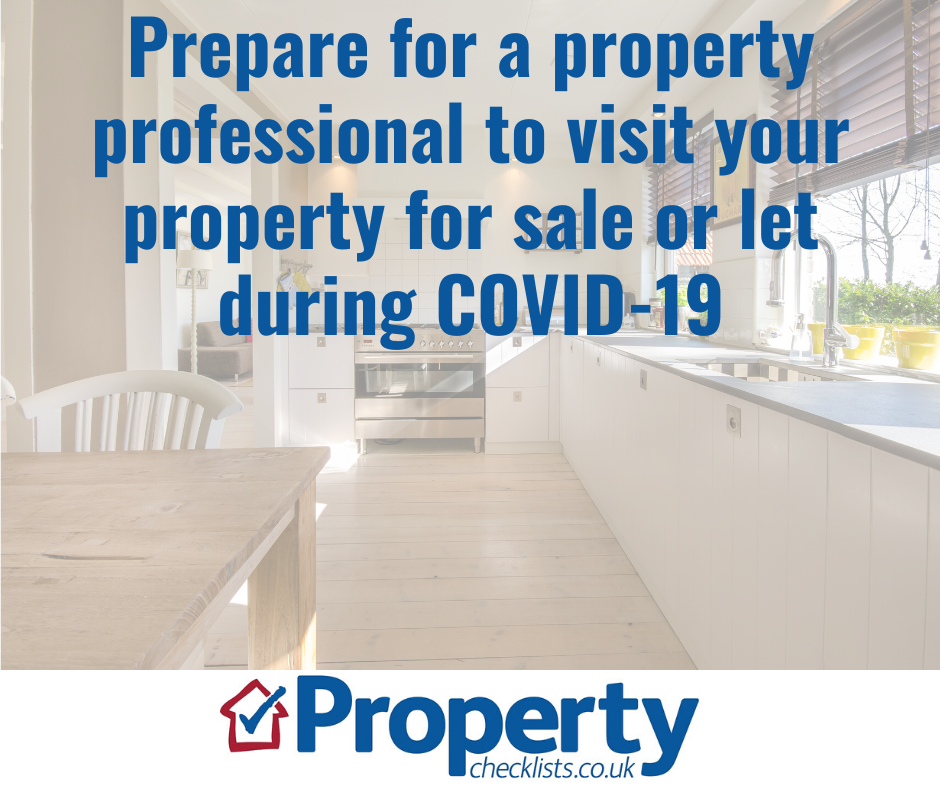 Prepare for a property professional to visit your property for sale or let during COVID-19 checklist