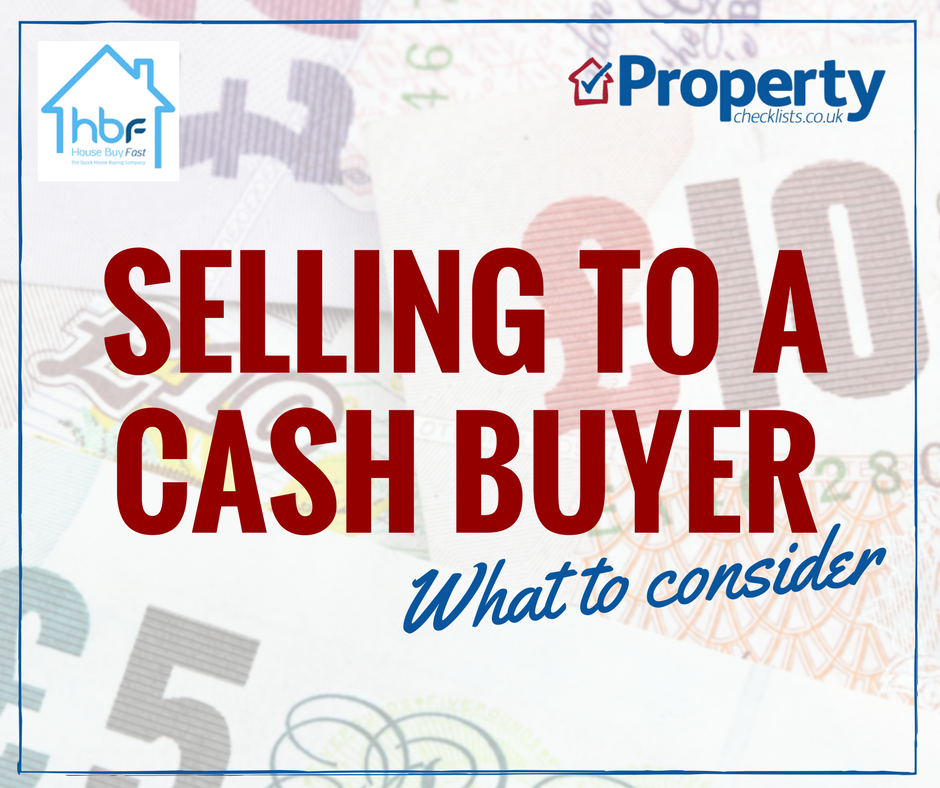What to consider when selling to a cash buyer checklist