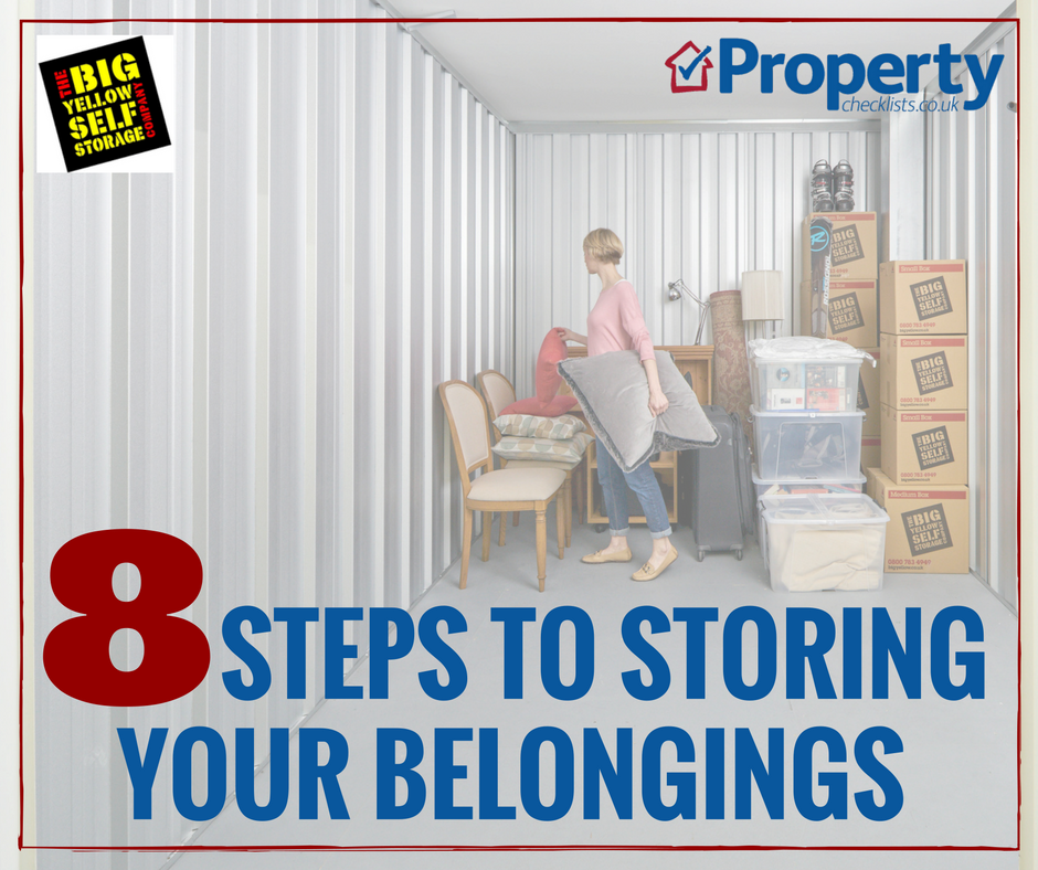8 steps to storing your belongings checklist