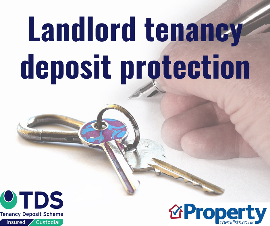 Landlord tenancy deposit protection checklist