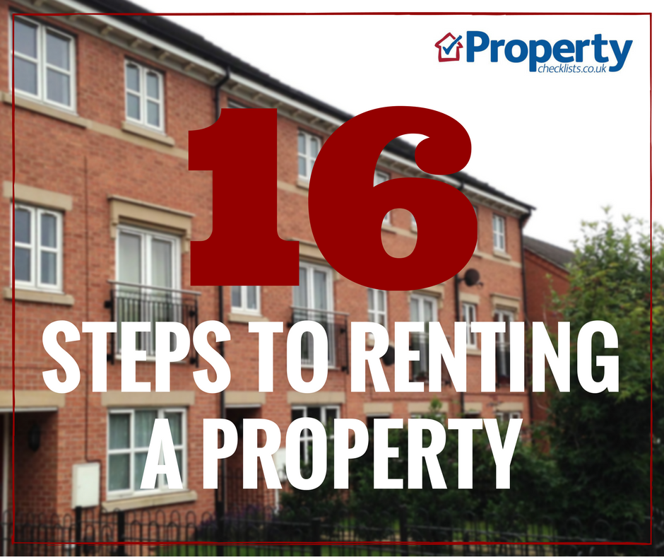 how to rent a property checklist